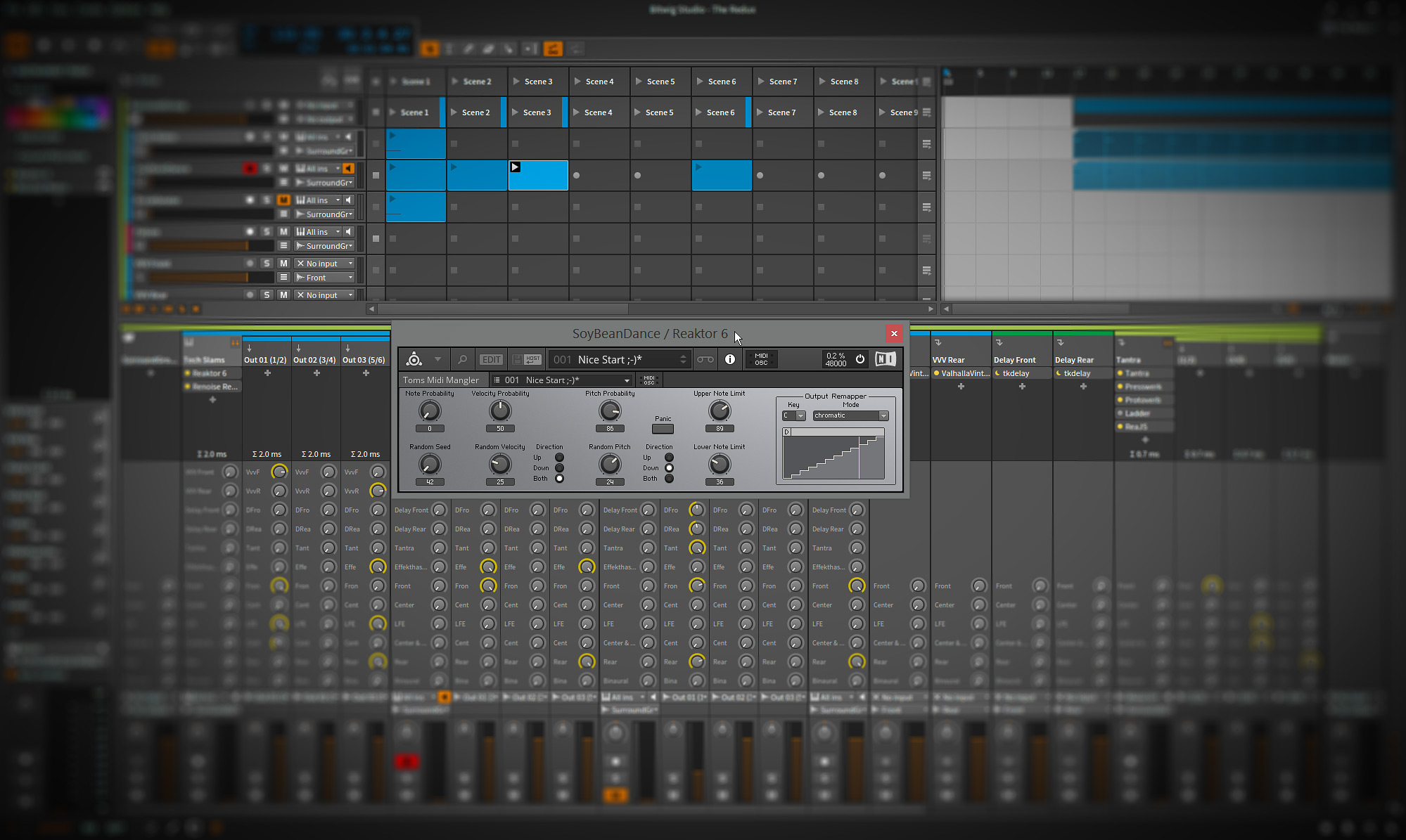 My tool for live-wrangling of Midi data for NI Reaktor 6